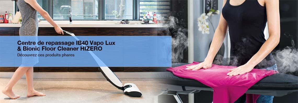 IB40 Vapo Lux et Bionic Floor Cleaner Hizero