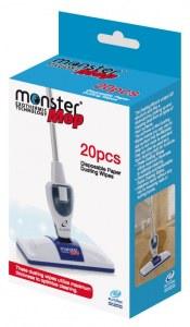 Kit 20 Lingettes jetables pour balai Monster Mop Exothermique